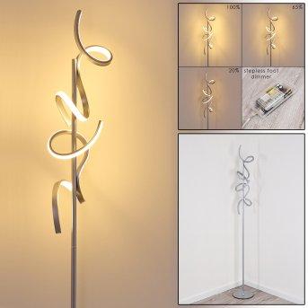 Lavaca Stehleuchte LED Silber, 2-flammig