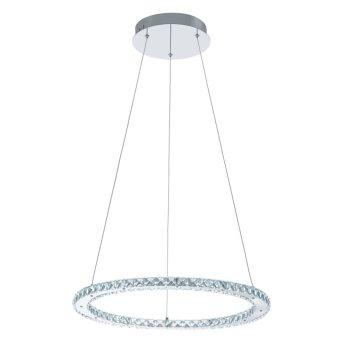 Eglo VARRAZO Pendelleuchte LED Chrom, Kristalloptik, 1-flammig