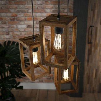 Siddeburen Pendelleuchte Holz dunkel, 3-flammig
