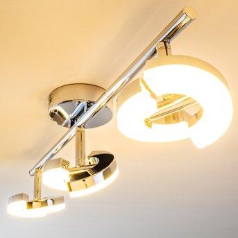 Paris Deckenspot LED Chrom, 3-flammig