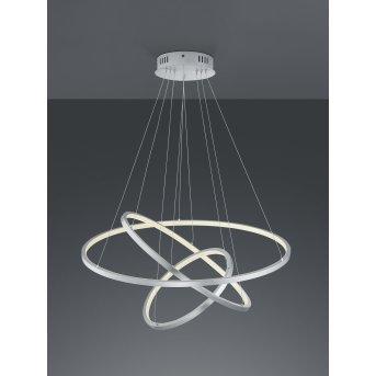 Trio Leuchten Aaron Pendelleuchte LED Nickel-Matt, 1-flammig, Fernbedienung, Farbwechsler