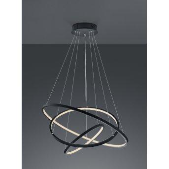 Trio Leuchten Aaron Pendelleuchte LED Anthrazit, 1-flammig, Fernbedienung, Farbwechsler