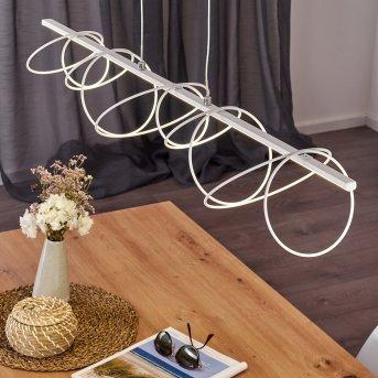 Jimma Pendelleuchte LED Weiß, 8-flammig