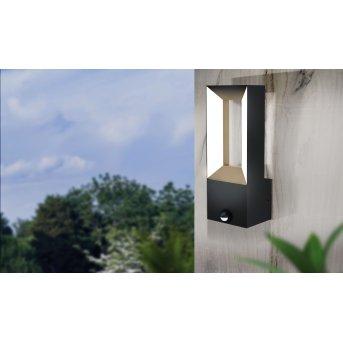 Eglo RIFORANO Außenwandleuchte LED Schwarz, 2-flammig, Bewegungsmelder