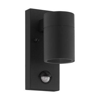 Eglo RIGA Außenwandleuchte LED Schwarz, 1-flammig, Bewegungsmelder