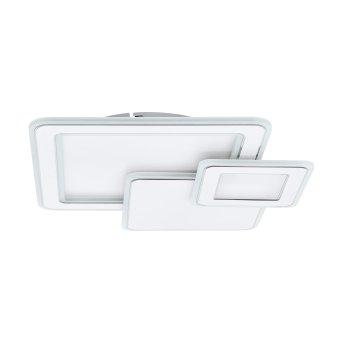 Eglo MENTALURGIA Deckenleuchte LED Chrom, Weiß, 1-flammig