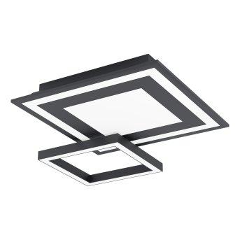 Eglo SAVATARILA Deckenleuchte LED Schwarz, 1-flammig, Farbwechsler