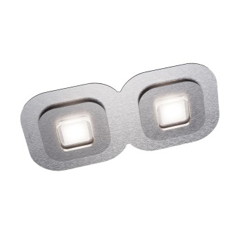 Grossmann AP Deckenleuchte LED Grau, Aluminium, 2-flammig