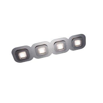 Grossmann AP Deckenleuchte LED Grau, Aluminium, 4-flammig