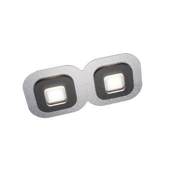 Grossmann AP Deckenleuchte LED Schwarz, Aluminium, 2-flammig