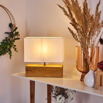 Geneva Tischleuchte Holz hell, 1-flammig