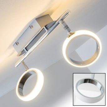 Dobris Deckenspot LED Chrom, 2-flammig