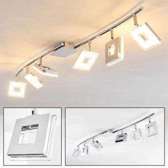 Krakau Deckenspot LED Chrom, 6-flammig