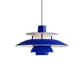 Louis Poulsen PH5Mini Pendelleuchte Weiß, Blau, 1-flammig
