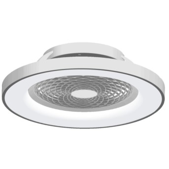 Mantra TIBET Deckenventilator LED Silber, 1-flammig, Fernbedienung