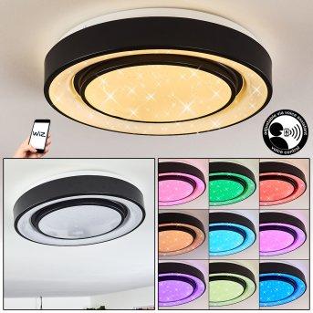 Grimacco Deckenleuchte LED Schwarz, 1-flammig, Farbwechsler