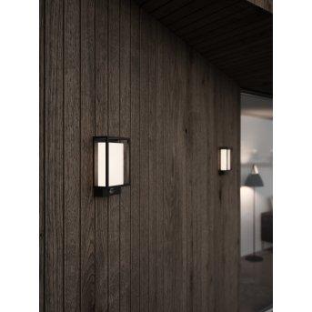 Nordlux Nestor Außenwandleuchte LED Schwarz, 1-flammig, Bewegungsmelder