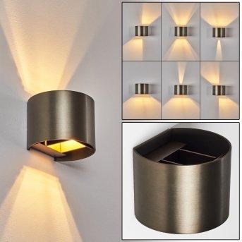 Badajoz Wandleuchte LED Braun, 1-flammig