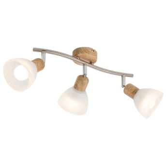 Nino Leuchten DAYTONA Spotleuchte LED Holz hell, 3-flammig