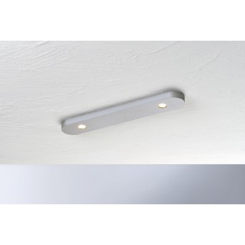 Bopp Leuchten CLOSE Deckenleuchte LED Silber, 2-flammig