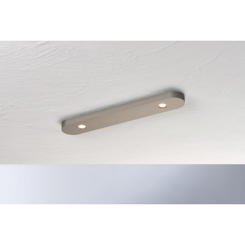 Bopp Leuchten CLOSE Deckenleuchte LED Braun, 2-flammig