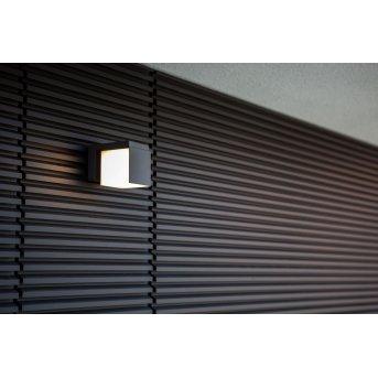 Lutec CUBA Außenwandleuchte LED Schwarz, 1-flammig