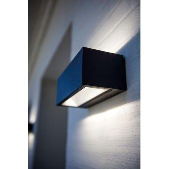 Lutec GEMINI Außenwandleuchte LED Schwarz, 2-flammig