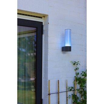 Lutec DROPA Außenwandleuchte LED Anthrazit, 1-flammig, Farbwechsler