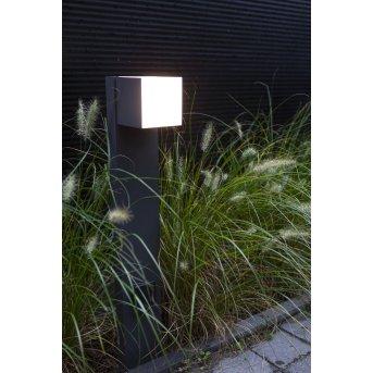 Lutec CUBA Wegeleuchte LED Anthrazit, 1-flammig