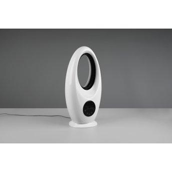Reality Kalmar Standventilator LED Schwarz, Weiß, 1-flammig, Fernbedienung, Farbwechsler