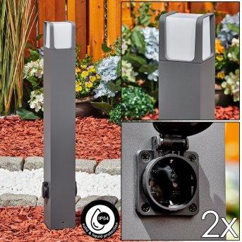 Lysabbel Wegeleuchte LED Anthrazit, 1-flammig
