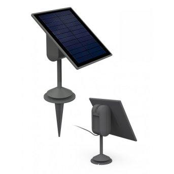 Lutec SUN CONNEC SPARTA Solarpanel LED Grau, Bewegungsmelder