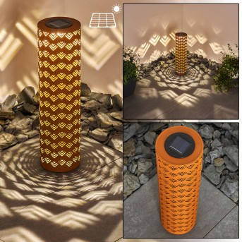 Parikia Solarleuchte LED Rostfarben, 1-flammig