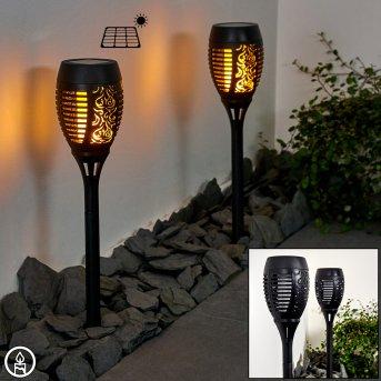 Joinville 2er Set Solar-Wegeleuchte LED Schwarz, 1-flammig