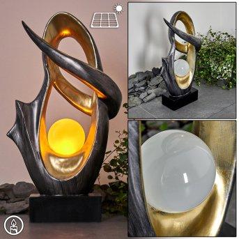Benevento Solarleuchte LED Silber, Gold, 1-flammig