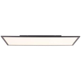 Brilliant Jacinda Deckenpanel LED Schwarz, 1-flammig, Fernbedienung