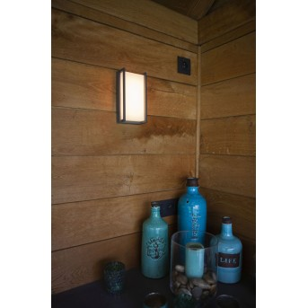 Lutec Qubo Außenwandleuchte LED Anthrazit, 1-flammig, Farbwechsler