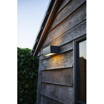Lutec Gemini Außenwandleuchte LED Anthrazit, 2-flammig, Farbwechsler