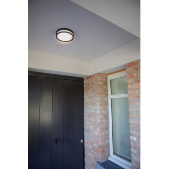 Lutec Rola Außendeckenleuchte LED Schwarz, 1-flammig