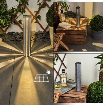 Hankinson Solarleuchte LED Silber, 1-flammig