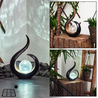 Isowai Solarleuchte LED Schwarz, Kupfer, 1-flammig