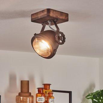 Herford Deckenleuchte Braun, Holz dunkel, 1-flammig