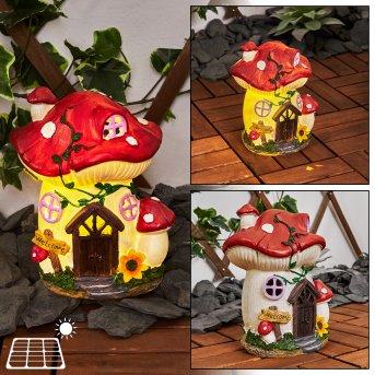 Katiao Solarleuchte LED Rot, Braun, Orange, Rosa, 1-flammig