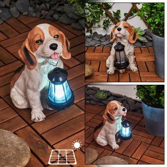 Sofie Solarleuchte LED Schwarz, Weiß, Orange, 1-flammig
