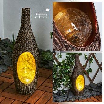 Otterstad Solarleuchte LED Braun, Gold, 1-flammig