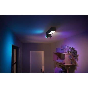 Philips HUE Centris Deckenleuchte LED Schwarz, 3-flammig, Farbwechsler