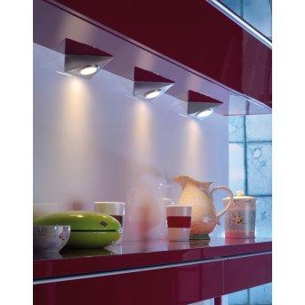 Leuchten Direkt THEO Unterbauleuchten 3er Set LED Edelstahl, 3-flammig