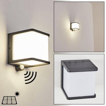 Burseryd Solar-Außenwandleuchte LED Schwarz, 1-flammig, Bewegungsmelder