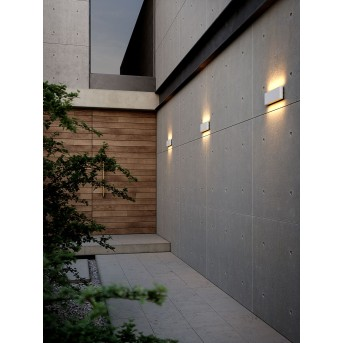 Nordlux KINVER Außenwandleuchte LED Weiß, 2-flammig