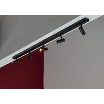 Nordlux OMARI Deckenleuchte LED Schwarz, 5-flammig